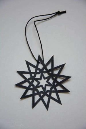 Papirklip til jul - sort julestjerne af papir