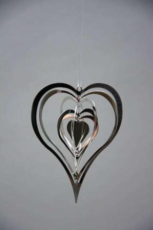 Sølv hjerte - juleophæng