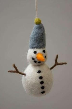 Snemand med blå hue