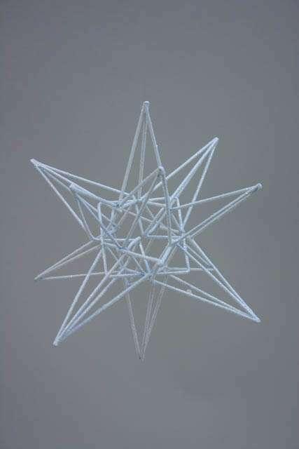 Hvid 3Dstjerne med frostlook