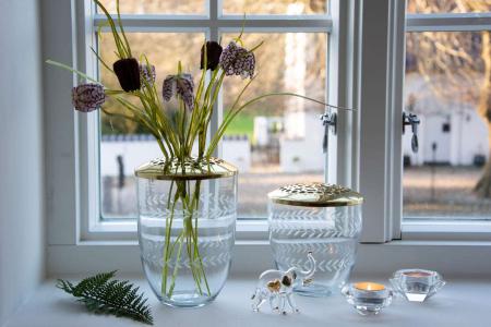 Inspiration til boligindretning med levende lys 2019 - glas