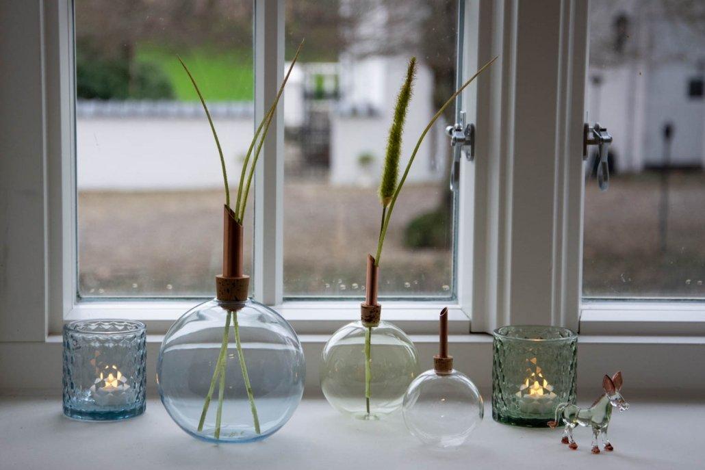 Inspiration til boligindretning med levende lys 2019 - glas vaser