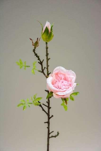 Kunstig rosengren lyserød