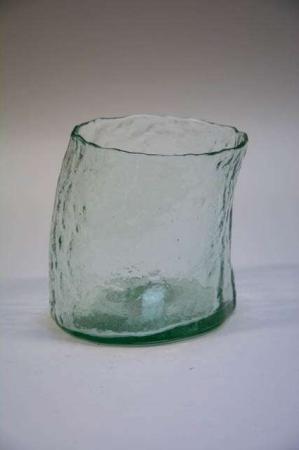 Skæv potteskjuler af glas