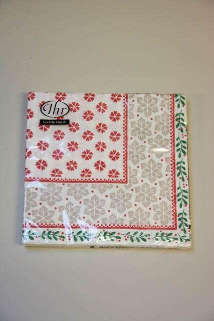 Mønstrede textile touch servietter fra Ihr