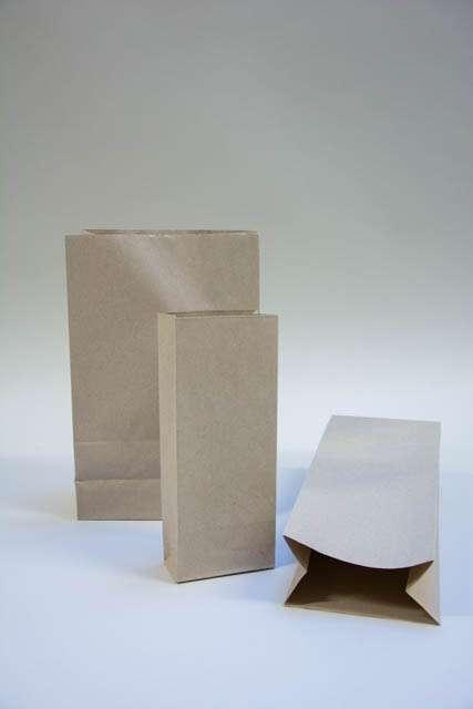 Brun papirspose