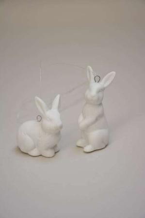 Hare af porcelæn. Porcelænshare. Påske 2019. Påkehare. Kanin. (2)