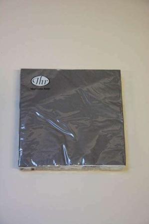 Mørkegrå servietter fra Ihr