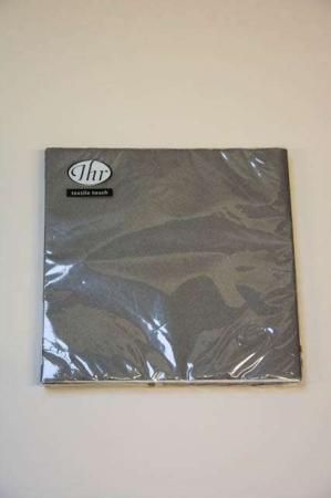 Mørkegrå textile touch servietter fra Ihr