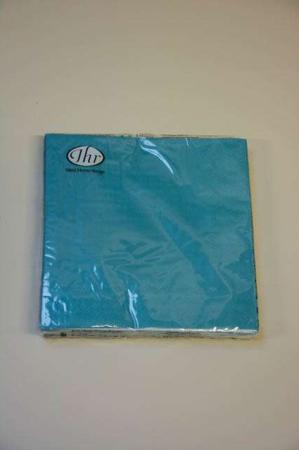 Petroleumsblå servietter fra Ihr