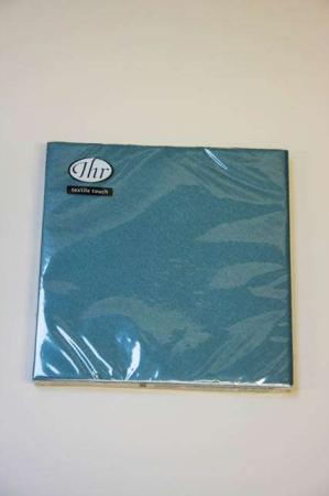 Petroleumsblå textile touch servietter fra Ihr