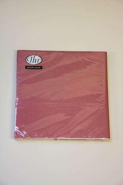 Vinrød textile touch servietter fra Ihr