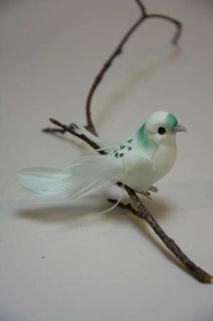 Fugl på clips. Turkis. Isblå