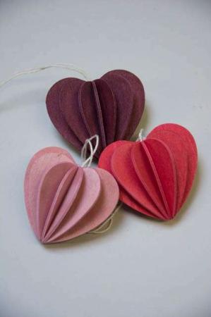 Lovi heart. 3D hjerter af træ.