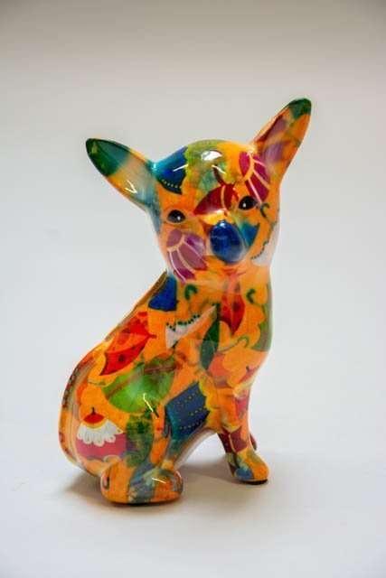 Pomme Pidou petit nanou. Chihuahua sparegris. Sparebøsse til børn. Sparebøsse til voksne