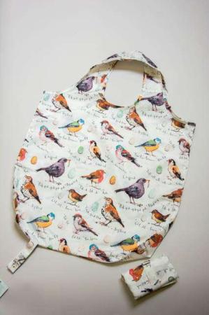 Ulster Weavers shopping bag med fugle. Indkøbsnet med fugle