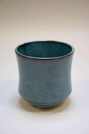 Urtepotteskjuler i keramik, blåmeleret 2Have