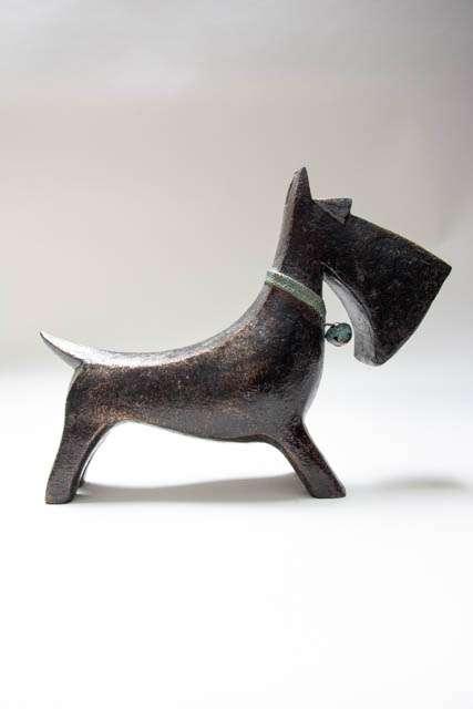 Figur af skotsk terrier. Hundefigur. Pyntehund
