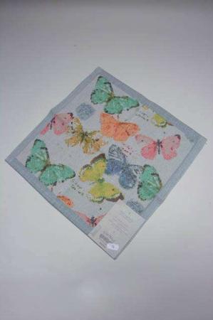 Ekelund Fjärilar stofserviet. 100% økologisk bomuld. Serviet af stof.