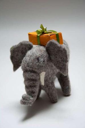 Filt dyr. Fairtrade filtdyr. Én Gry & Sif elefant