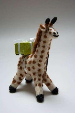 Filt dyr. Fairtrade filtdyr. Én Gry & Sif giraf