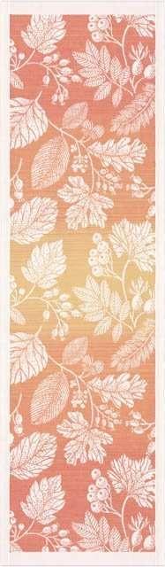 Økologisk bordløber fra Ekelund - Flytande Orange. Bordløber i orange stof. Vævet tekstil. Bordløber i orange nuancer.