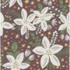Økologisk bordløber fra Ekelund - Vitblom. Bordløber til jul. Julebordløber i stof. Bordløber med hvide blomster. Tekstiler i høj kvalitet. Vævet stofbordløber med blomster