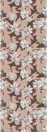 Økologisk bordløber fra Ekelund - Asterrosa. Løber med blomstermotiv. Bordløber i tekstil. Lyserød bordløber.