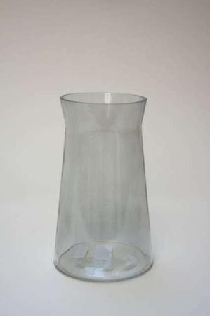 Høj cylinderformet vase i glas. Glasvase til blomsterbuketter. Blomstervase i glas. Enkel glasvase i klar glas.