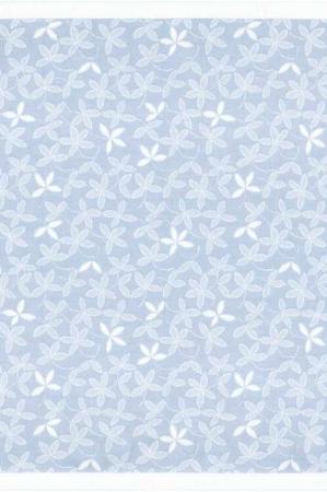 Kvadratisk dug - lyseblå dug med hvide blomster 75x75