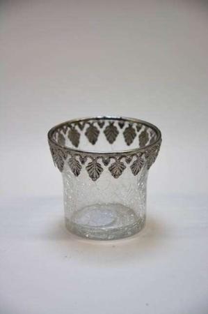 Fryfadsstage i glas - antiklook. Glasstage til fyrfadslys. Lysestage i glas til fyrfadslys. Fyrfadslysestage i gammeldags stil.