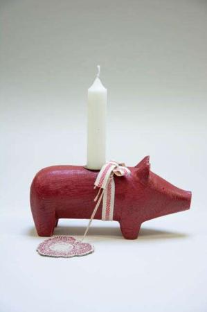 Maileg julestage gris - rød