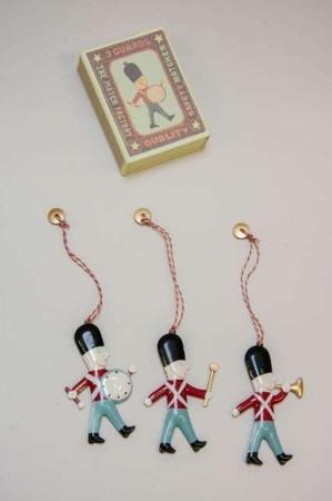 Maileg ornamenter -julepynt fra maileg - tinsoldater i æske