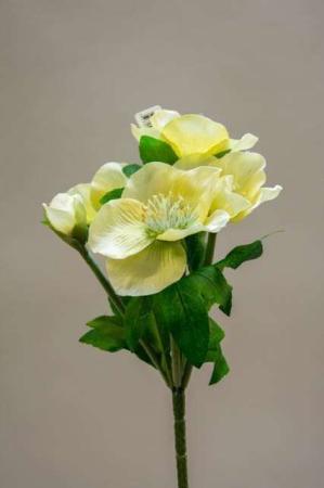 Buket af juleroser - lime. Kunstige juleroser i buket. Kunstig dekomateriale. Kunstigt blad. Kunstig blomst. Plastic blomst. Kunstig plante.