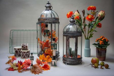 Inspiration til efterårsdekoreret lanterner