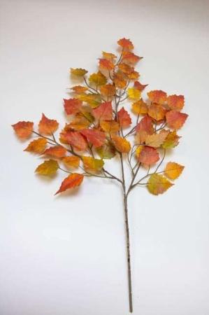 Kunstig efterårsgren. Kunstig dekomateriale. Kunstigt blad. Kunstig blomst. Plastic blomst. Kunstig plante. Kunstig gren. Efterårsdekoration.