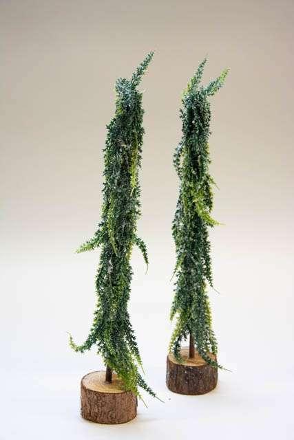 Kunstigt juletræ med frostlook.. Juletræ med sne. Lille grantræ med kunstig sne. Kunstigt grantræ med frostlook.