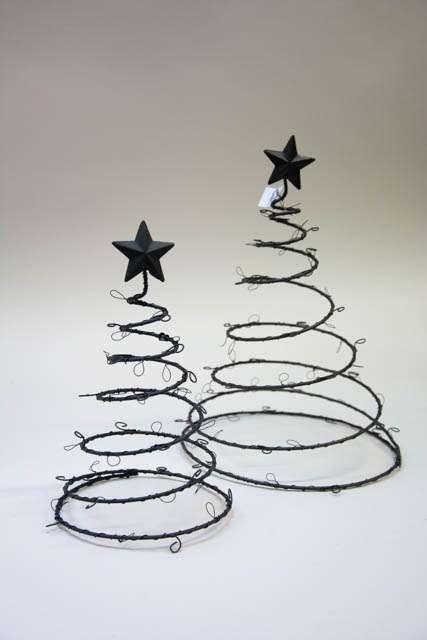 Julepynt 2019 - Juletræ i metal. Metaljuletræer med kroge. Spiralformet juletræ. Ib Laursen julepynt.