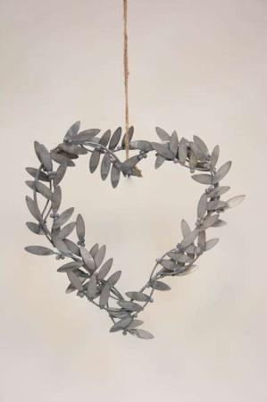 Zink hjerte af mistelten blade