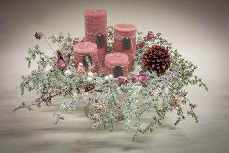 Inspiration til adventskrans 2019 - rosa