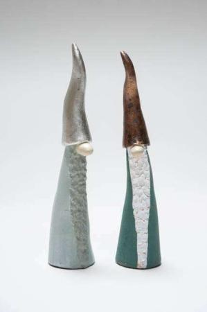 Tomten den Långa metalfarvede nissehuer - Nisser fra Nääsgränsgården