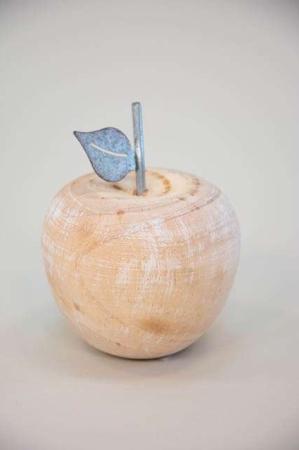 æble af træ og metal - dekorationsæble fra 2Have