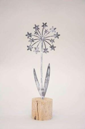 Blomst metal og træ - pyntefigur fra 2Have
