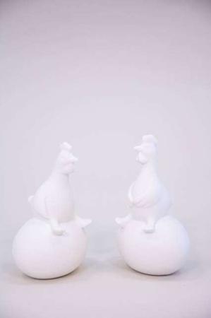 Hvide påskeharer på påskeæg - påskefigurer fra 2Have