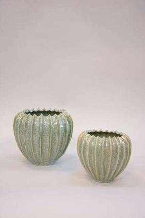 Keramik potteskjulere med grøn glasur - grøn keramikvase fra 2Have