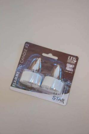 LED fyrfadslys 2 pak
