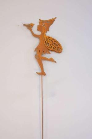Nål med alf og fugl metal- rustfarvet stick fra 2Have.jpg