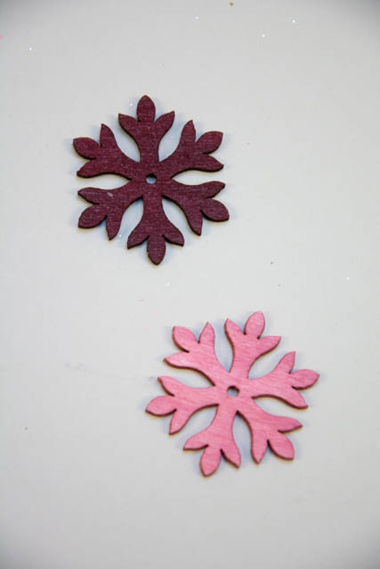 Snefnug af træ i rosa nuancer - 2Have