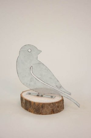 Spurv af metal og træ - figur af fugl fra 2Have