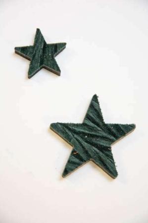 Træstjerne beklædt med filt - grøn filtstjerne 2Have